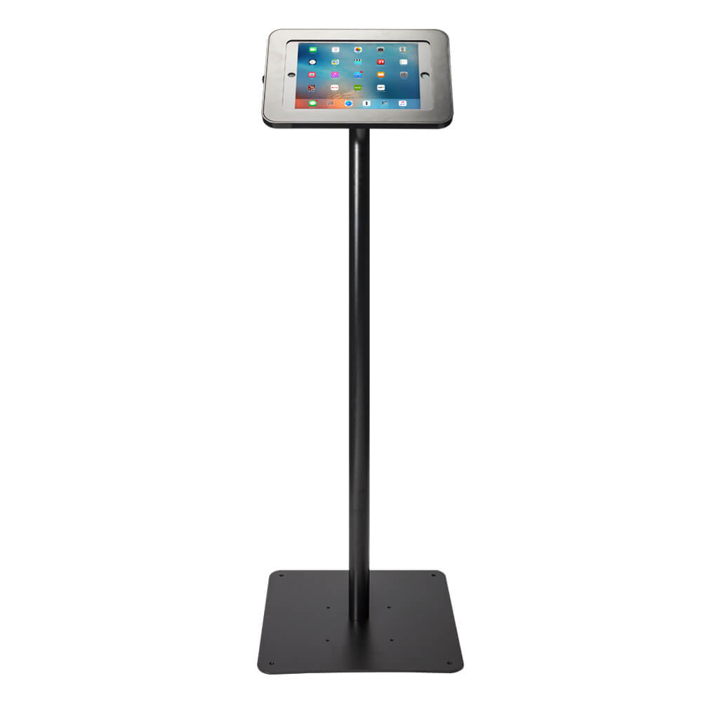 Tablet Stand | Floor Freestanding Black | Front