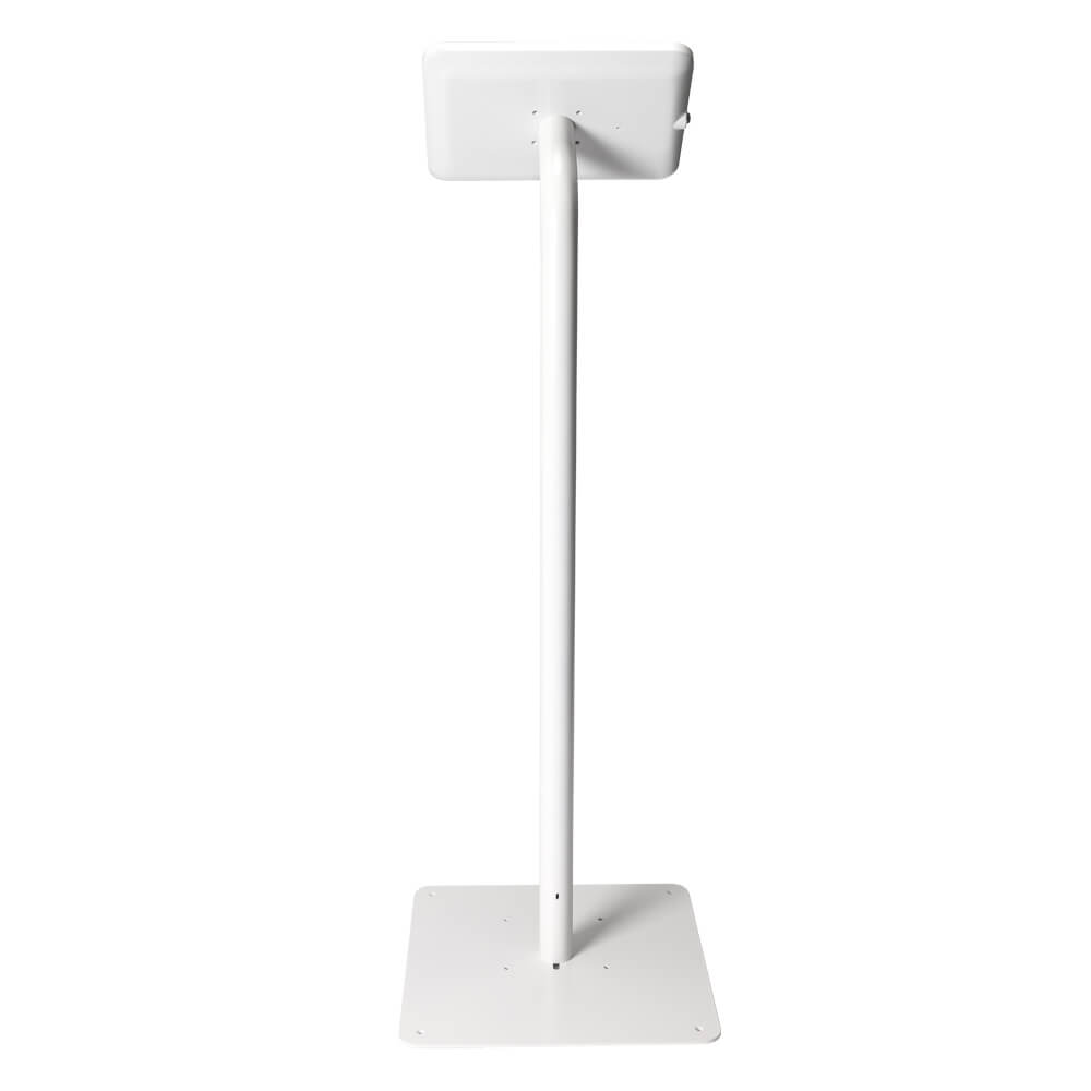 Tablet Stand | Floor Freestanding White | Back