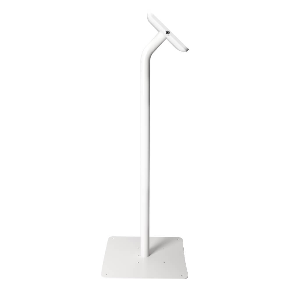 Tablet Stand | Floor Freestanding White | Side