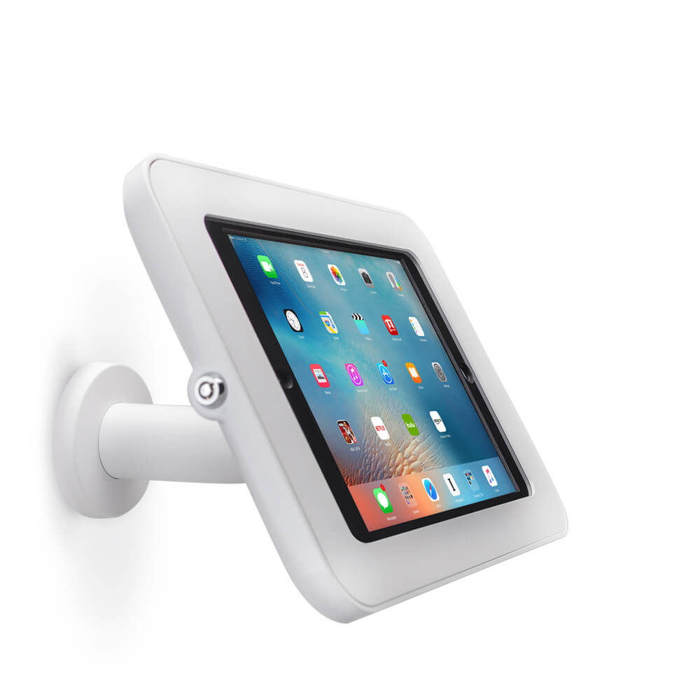 Tablet Stand | Wall 30 White | Front